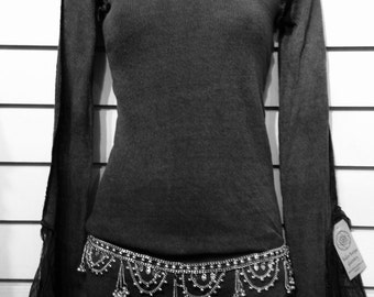 Charcoal Black Long Sleeve Top