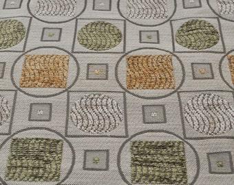 Upholstery Fabric - Geometric - Vintage Fabric - Drapery Quality - Retro - Chenille