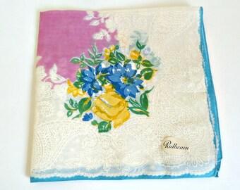 Handkerchief Hanky Hankie Vintage Hankys Hankies Antique Handkerchief Hankerchief Designer Ridlicain Floral