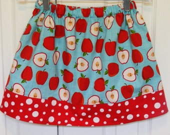 Metro Market Apples  Skirt (12 mos,  18 mos, 24 mos, 2T, 3T, 4T, 5)