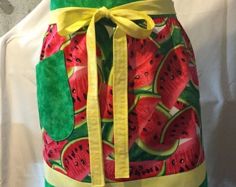 Colorful Watermelon Patterned Half-Apron