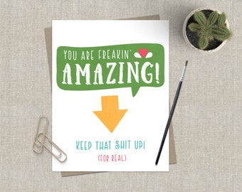 Funny Graduation Day Card / Grad Card / For Graduate / Funny Graduation Card / Encouragement Card / Funny You Are Amazing Card Adult