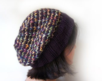 handmade knitted hat for women and teen, knit slouchy hat