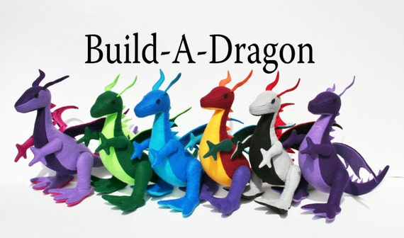 Build A Dragon Personalized Plush Dragon By Theroamingpeddlers
