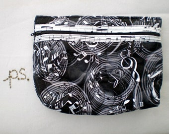 Quilted Music Pouch/ optional Wristlet