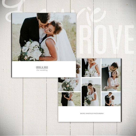 Photo Album Examples: Wedding Album Template: Black Tie 10x10 By