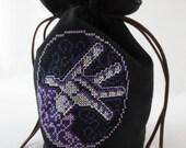 Warcraft Emblem Embroidered Drawstring Dice Bag