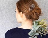 Hair Comb, Stainless Steel, Handmade, Reclaimed, Hair Accesories, Bridal Jewellery, 1920's, Art Deco