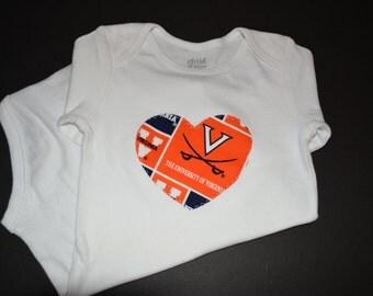 University of Virginia Cavaliers Children's Heart Bodysuit or T-Shirt