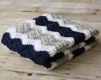 Crochet Baby Blanket, Chevron Baby Blanket, Soft Baby Blanket, Boy Baby Blanket, Girl Baby Blanket, Crib Blanket, Car Seat Blanket