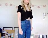 Vintage High Waisted Light Blue Armani Jeans Slim Leg