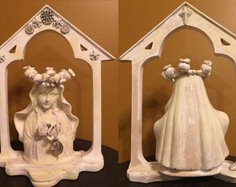 Virgin Mary Shrine Mary Altar assemblage mixed media art sculpture