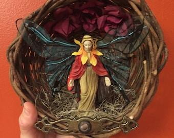 Mary Shrine, Virgin Mary Shrine, Mary Mariposa shrine, Mary altar, Holy Mother shrine, Madonna altar, OOAK religious art