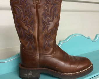 Ariat Brown Boots, Unisex, Fat Boy, Size 8B,