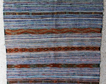 "190x155  cm ( 6.2"" x 5.1"") FREE SHIPPING worldwide KL27614 vintage berber kilim rug, flat rug, moroccan rugs , rag rug,morocco carpets"