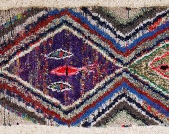 "boucherouite  FREE SHIPPING worlwide T25599 250 X 90 CM (8'2"" X 2'11""), boucharouette,  moroccan rugs , berber rugs, morocco carpets"