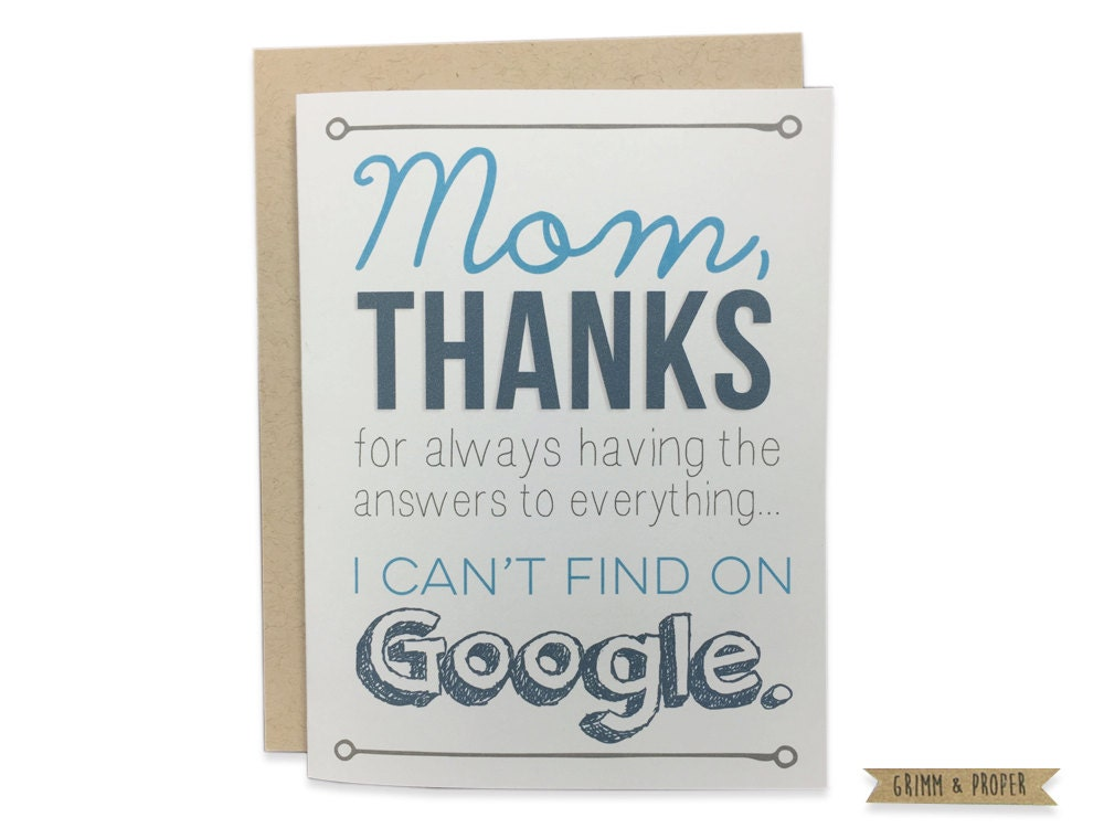 Mom Birthday Card Funny Mothers Day Card Happy – Birthday Cards for Mom Funny