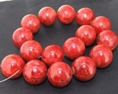 18inch 20mm sponge Coral round beads necklace with clasp