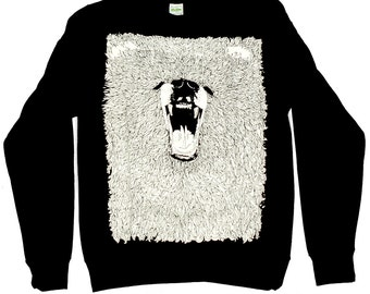 Sweater - Grizzly Bear- Black Round Neck Sweater