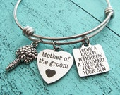 mother of the groom gift bracelet, today a groom tomorrow a husband forever your son, wedding gift for mom, gift from son groom gift for mom