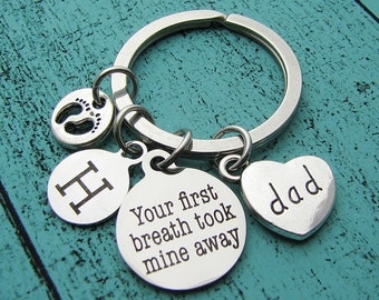 first fathers day gift, from wife, gift for dad keychain, new dad gift, gift for men, dad birthday gift, gift for husband, personalized gift