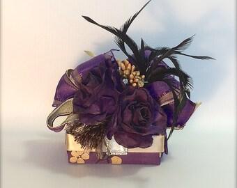 Gift Box Bridesmaid Gifts Funky Favor Box Purple Gold Jewlery Box Pre-wrapped Gift Box Wedding Favor Bridesmaid Gift Boxes