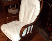 Glider Rocker Slip Cover for your Cushions- WHITE COTtON CANVaS Fabric or PICK from other choices
