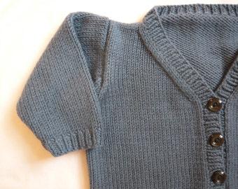 Debbie Bliss hand knit cashmerino baby jacket