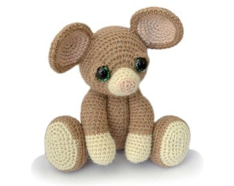 Mouse Amigurumi Crochet Pattern PDF Instant Download - Basil