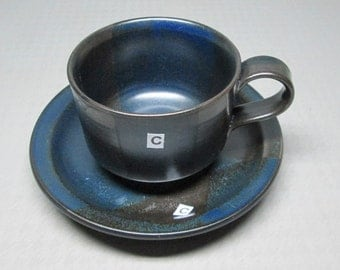 Iron Mountain Stoneware BLUE RIDGE ONE / 1 cup and saucer ( i have 5 available )