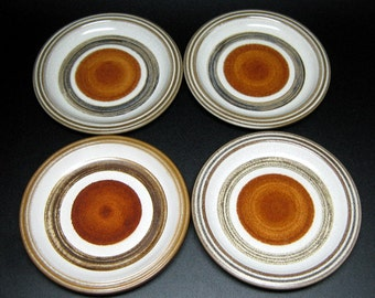 Hall Artisan Handcrafted Denby England . PALOMAR 4 bread and butter sized plates