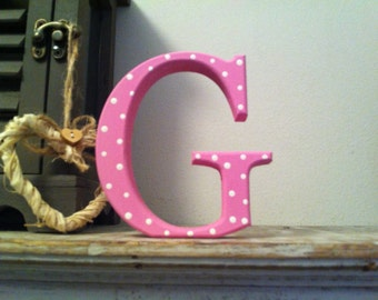 Hand-painted Wooden Letter G - Freestanding - Georgia Font - Various sizes, finishes and colours - 30cm