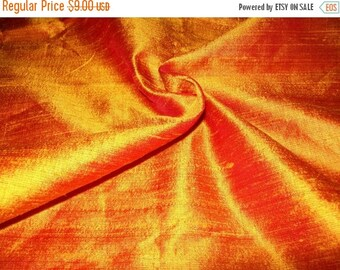 15% Off Half yard 100 percent pure orange dupioni silk
