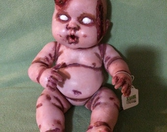 RETIRING SOON! Baby Rots-a-Lot: zombie baby 14 inch vinyl doll ~ As seen on AMC
