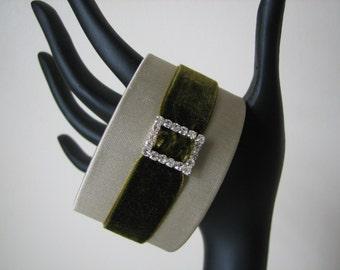 Cuff Bracelet Textile Cuff OOAK Wrist Cuff Wearable Art