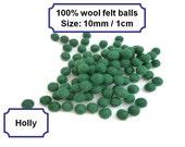 Felt beads handmade pom pom balls wool small felt balls arts and crafts 10mm 100%