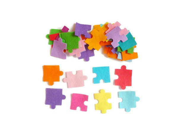Items similar to jigsaw puzzle die cut felt arts and for Felt arts and crafts