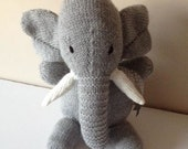 Hand Knitted Cuddly Elephant