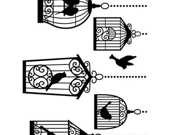BIRDCAGES Embossing Folder by Darice Size A2