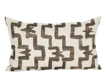 Tulu lumbar pillow cover in Umber