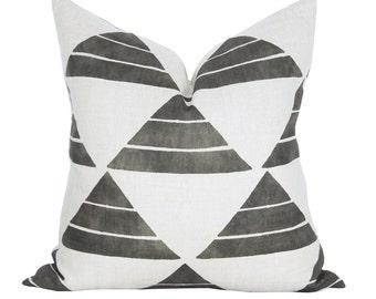 Uroko pillow cover in Ink