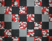 Upcycled Vintage Mickey Mouse Patchwork Quilt