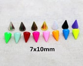 30 Sets 7x10mm Punk Rock DIY Rivet Spike Cone Bullet Metal Spikes Studs Screw back For Leather crafts Shoes Bag Belt Phones Leathercraft