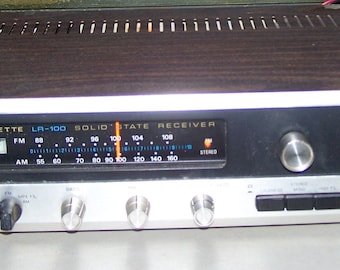 Vintage 1970's Lafayette LR-100 Stereo Receiver