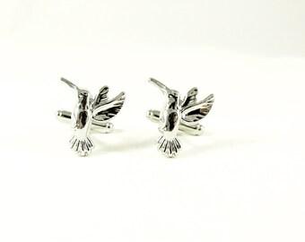 Mens Cufflinks,  Silver  Hummingbird Mens Accessoies