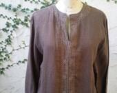 Linen Tunic Dress Cocoa Vtg unisex