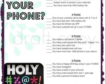 40th Birthday Party Game | Whats in your phone