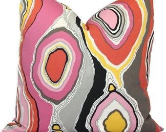Tobi Fairley Decorative Pillow Cover, La Petit Roche Coral Decorative Pillow Cover, Square, Eurosham or lumbar pillow, Accent Pillow, Toss