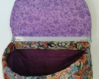 Tapestry Lidded Clothespin Bag
