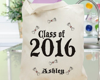 Graduation Class of 2016 Personalized Canvas Tote Bag - 81302